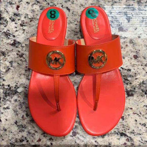 Michael Kors Shoes | Leather Orange